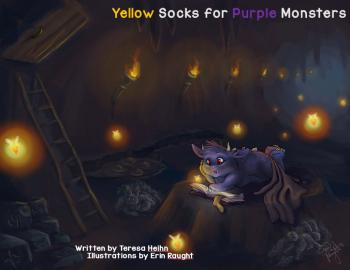 Image of Yellow Socks for Purple Monsters